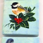 הציפורים שסיימתי לצייר – בחצר האחורית