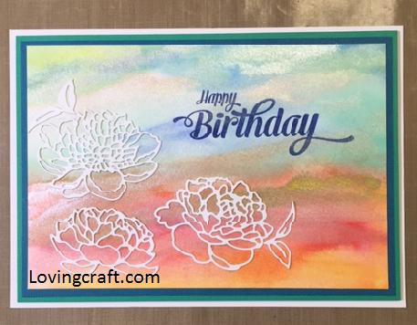 כרטיס ברכה צבעי מים