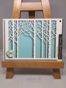 סטנסיל עצים בחורף