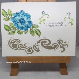 כרטיס פרח כחול